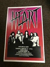 """Heart 1979 Bowling Green Kentucky Cardstock Concert Poster 12""""x18"""""""