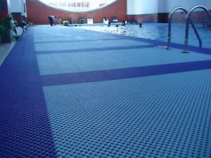 Green  Dew Modular Non Slip Wet Area Lagune Tile Bath Mat Pastel Blue 20 x 20cm