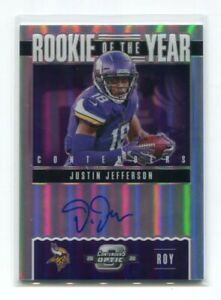 2020 Panini Contenders Optic Rookie of the Year  AUTO 14/99 Justin Jefferson RC