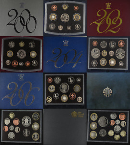 ROYAL MINT STANDARD PROOF COIN YEAR SET 2000 TO 2011 SELECT YOUR YEAR