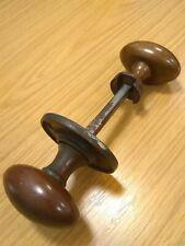 Antique Original Victorian Bronze Pair Of Door Handles