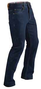 CE Armored Motorcycle Riding Men's Jeans Fly Racing Resistance Pants Indigo