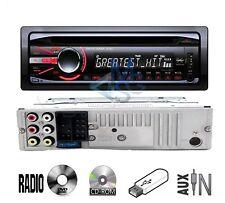 Stereo Autoradio CDX Lettore CD DVD USB AUX 52W 4 Canali Telecomando Estraibile