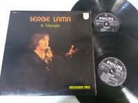 "SERGE LAMA A L´OLYMPIA GATEFOLD PHILIPS 1974 - 2 X LP VINILO 12"" VG/VG"