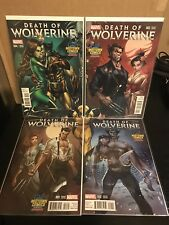 Death Of Wolverine 1 2 3 & 4 Midtown J Scott Campbell Connecting Variant Set Of