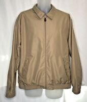 Ralph Lauren Chaps Full-Zip Harrington Jacket Plaid Lining Beige Large Defects