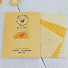 Set of 3 Natural Beeswax Food Wraps, Zero Waste Living, Reusable, Sustainable