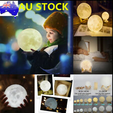 AU Dimmable 3D Magical Moon Lamp USB LED Night Light Moonlight Gift Touch Sensor