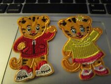 Iron on embroidered applique/patches two 3in. Daniel Tiger and girl