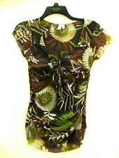 Sweet Pea Stacy Frati Top~Beautifully Boho Florals~Tie and Ruched Sides~M~LOVELY