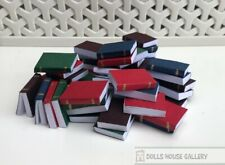 48 Books, Dolls House Miniature, Library, Study, School, Shelf Accessory