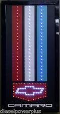Chevy Camaro led lighted sign shop decor flag neon garage display man cave car