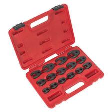 Sealey AK5983 15 Piece 3/8 & 1/2″ Drive Metric Crow Foot Spanner Set 8-24mm