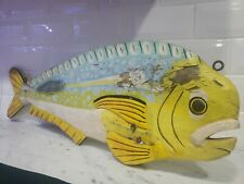 Vintage Fishing Sign~Folk Art Fish Piece Old Hand Painted mahi mahi ?