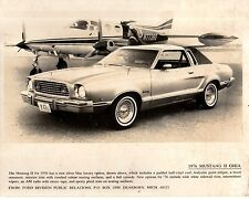 1976 Mustang Ii Ghia Original Press release glossy photo from dealer's files