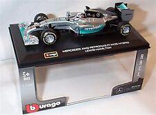 Mercedes Gp F1 W05 Amg Petronas Lewis Hamilton 2014 WC Burago 1:32 with driver
