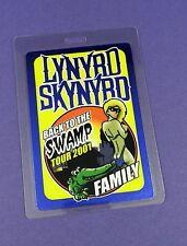 Lynyrd Skynyrd  Original Backstage Pass - Back To The Swamp Tour 2001 - Unused !