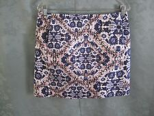 Joe Fresh Tile Stamp Print Skirt Size 8 Textured Cotton ~ Lined NWOT