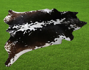 "New Cowhide Rugs Area Cow Skin Leather 22.17 sq.feet (57""x56"") Cow hide U-8403"
