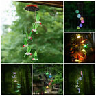 LED Color-Changing  Power Solar Wind Chimes Yard Home Garden Decor US