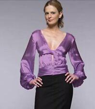 PACO RABANNE Runway Purple Satin Silk Blouse France 40