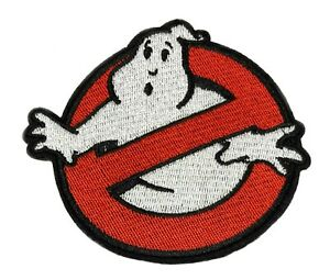 """4"""" GHOSTBUSTERS GHOST Movie Logo BUSTERS IRON-ON Embroidered Applique Patch"""