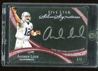 2014 ANDREW LUCK Five Star TOPPS AUTO 1/1 Silver Signatures Autograph FSSS-AL