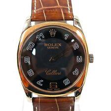 Rolex Cellini Solid 18K White & Rose Gold Ref 4233 Watch Sapphire