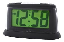 Acctim Juno LCD Smartlite Alarm Clock With Snooze, Large Digits Battery Powered