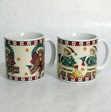 Debbie Mumm Christmas Bears Holiday Coffee Cup Mug Pair Sakura 12 Ounce