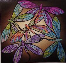 "Dance of The Dragonflies Applique Quilt Kit 40"" X40"" by Joann Hoffman"