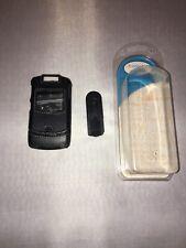 Motorola Razr V3Xx Black leather snap on case with clip