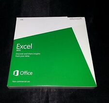 Microsoft Excel 2013 Retail DVD Install PC Windows 1 PC Non Commercial Use