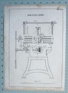 1847 Entwicklung Aufdruck Hand Hobel Machine