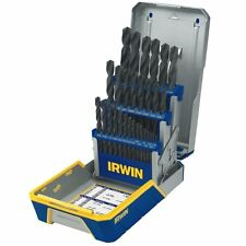 NEW IRWIN 3018004 29 PIECE BLACK OXIDE DRILL BIT SET METAL INDEX CASE 9083668