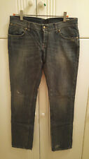 John Richmond 100% cotton stretch slim fit distressed jeans, 34