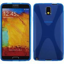 Funda de silicona Samsung Galaxy Note 3 X-Style - azul + protector de pantalla