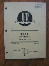 Ford 8000 9000 I&T tractor shop manual