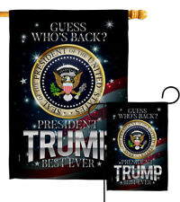 President Trump Best Ever Garden Flag Vote Patriotic Gift Yard House Banner