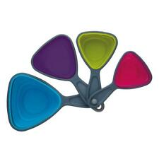 Kitchen Craft Colourworks 4 Piece Triangle Collapsible Flexi Measuring Cup Set