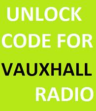 Vauxhall Opel Corsa Perfect Working Codes Blaupunkt Radio Unlock