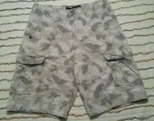 Rocawear Grey Camo Zip Fly 100% Cotton Cargo Pocket Shorts Original Fit -Size 34