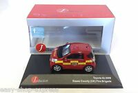 Toyota IQ Essex UK - pompier 2009 1:43 IXO JCL VOITURE DIECAST MODEL JC169