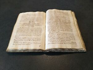 Manoscritto 1766 autore inedito Raro Collezione Manuscript Rare Collection