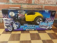 New Muscle Machines 1:18 Scale '32 Ford Roadster Diecast Car- Cali Too Cool New