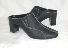Sag Harbor Flash mules clogs black sz 6 Med NEW with DEFECT