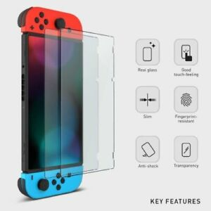 For Nintendo Switch Hard Travel Carrying Bag/Case+Tempered Glass ScreenProtector