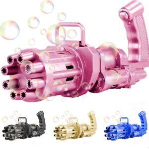 Bubble Gatling Gun 8-Hole Huge Amount Bubble Maker Machine Summer Cool Toys Gift