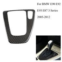 For BMW E90 2005-2012 Carbon Fiber Gear Shift Panel Decorative Trim Cover RHD