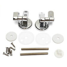 1 Set Replacement Toilet Seat Hinge Toilet Mountings Threaded Rod & Gasket & Nut